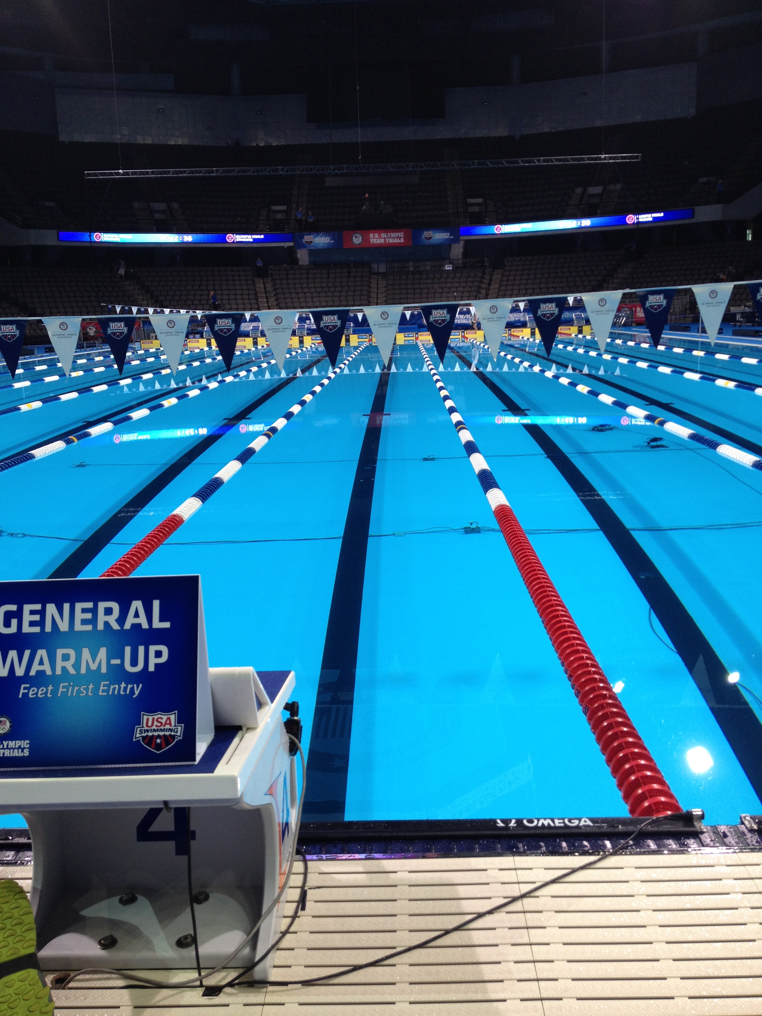 olympic swimming pool lanes. Photo Montage From Swimming Olympic Trials Pool Lanes H