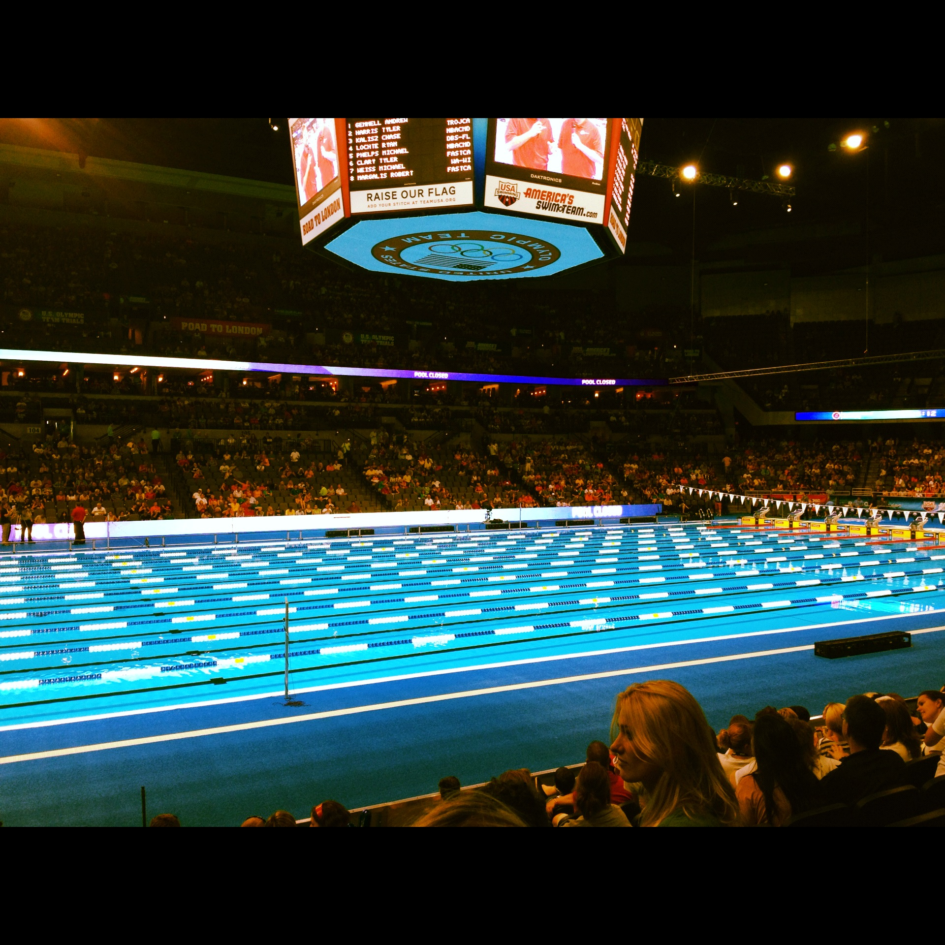 Photo montage from swimming olympic trials genuine joy - Olympic swimming pool opening hours ...