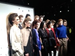 Monika Chiang with her models post show
