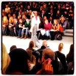 Sequin skirt at Carmen Marc Valvo