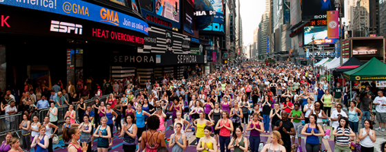 Time Square yoga